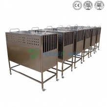 Mobile stainless pet transfer cage YSVET8105